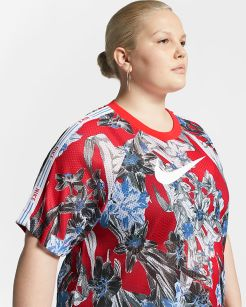 sportswear-damestop-met-korte-mouwen-en-bloemenmotief-dMcWwH